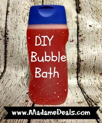 Make some DIY Bubble Bath http://madamedeals.com/diy-bubble-bath/ #inspireothers