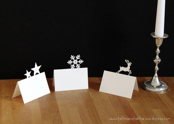 Christmas Place Cards by faltmanufaktur