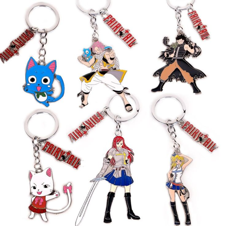 Fairy tail cute keychains 50 off today free shipping