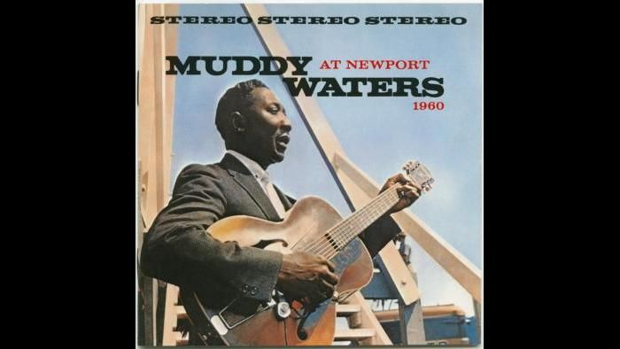 Muddy Waters - Chess LP Cover - at Newport Jazz Festival