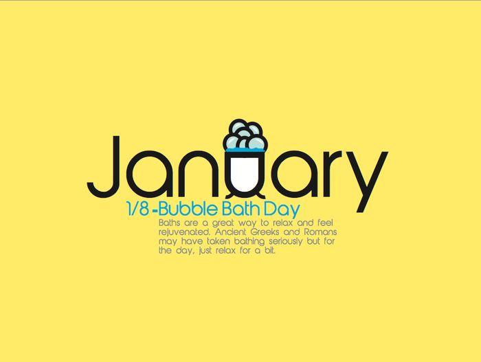 Happy bubble bath day!  #bubbles #bubble #bath #blue #yellow #holidays #calendar #2015 #unusual #holiday #kickstarter #art #graphicdesign #illustrations #illustration #cute #quirky #drawing #fun #history #tub #kickstarter #crowdfunding #project #random #unique #cute