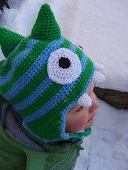 Dinosaur Hat - How cute is this? I'm thinking matching winter hats for the boys this year... ;)