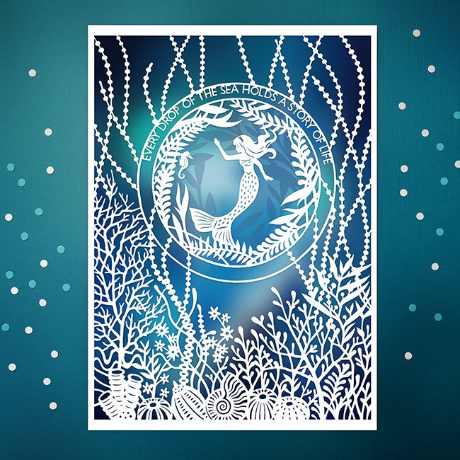 """New! Original papercut illustration, available as 5x7"""" and 8x10"""" giclee prints. by SarahTrumbauer on Etsy"""