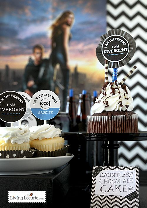 Divergent Party Ideas - Dauntless Chocolate Cake & Free Party Printables. LivingLocurto.com