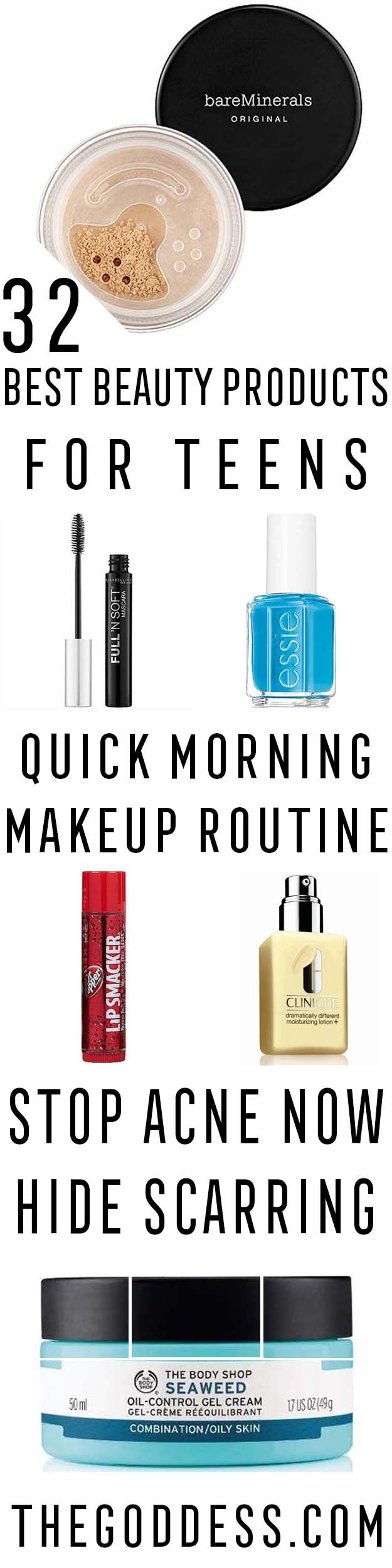 Best Beauty Products For Teens - Teen Beauty Essentials and The Best Products Ever. Skin Clearing Products and Skincare Products That Make Great Beauty Gift Ideas For Teens and Tweens. Skin Care and Makeup Gift Ideas and Shops As Well As Tips and DIY Tutorials For Face Masks, Simple Style Tricks and Even Some Lip Balm and Makeup Products That Teens Love. https://thegoddess.com/beauty-products-teens