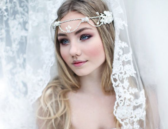 My Delicate Ingrid bridal crown  Bohemian halo by SoBridelicious, $110.00
