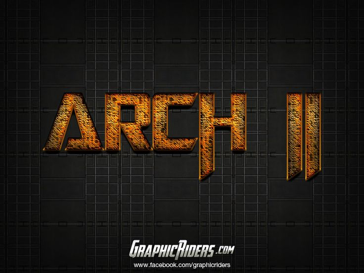 GraphicRiders   Sci-fi style – Arch 2 (free photoshop layer style, text effect) #graphicriders