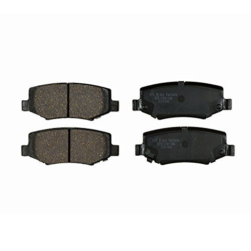 KFE Ultra Quiet Advanced KFE1274-104 Premium Ceramic REAR Brake Pad Set. For product info go to:  https://www.caraccessoriesonlinemarket.com/kfe-ultra-quiet-advanced-kfe1274-104-premium-ceramic-rear-brake-pad-set/