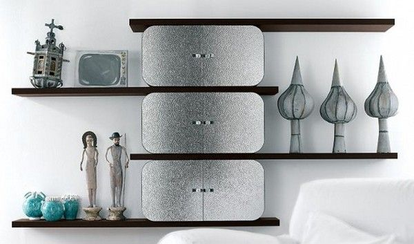 Cocoon Collection Shelving Units For an Original Interior by Paola Navone for Ideal Form Team.