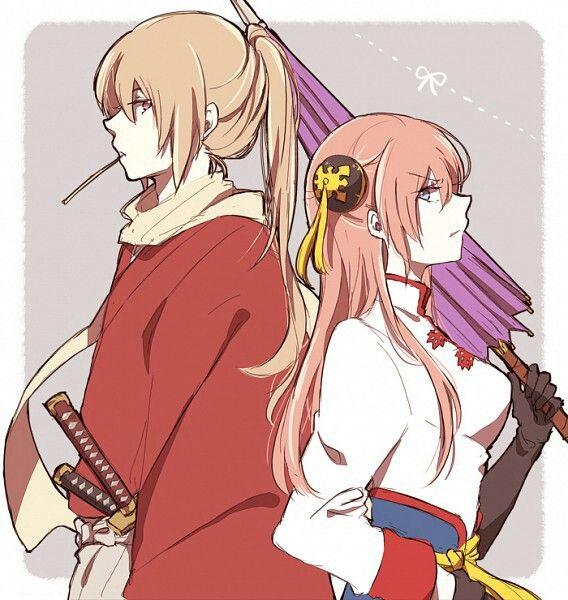 Okita Sougo & Kagura (GINTAMA)