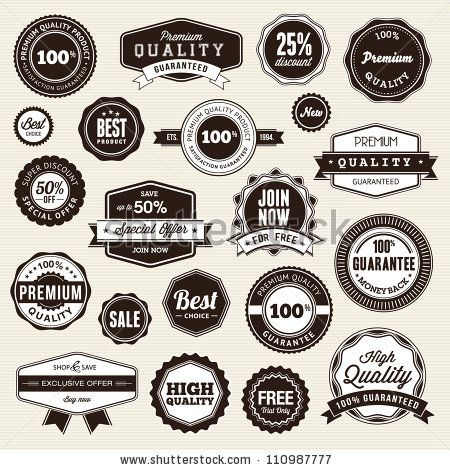 stock vector : Set of labels and stickers