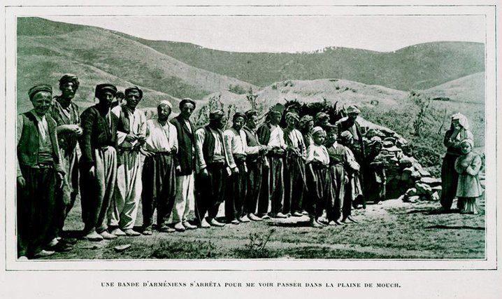 Muş, Ermeni köylüler. 1910 'lu yıllar...