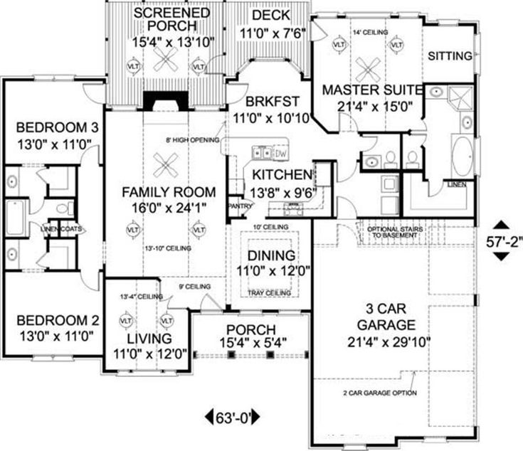 Floor plan first story 1801 2100 sq ft pinterest for 2100 sq ft house plans