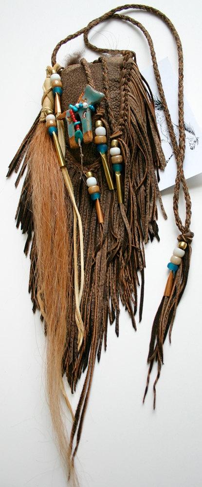 Native Horse Deerskin Leather Medicine Bag SOLD by JillClaireArt, $160.00