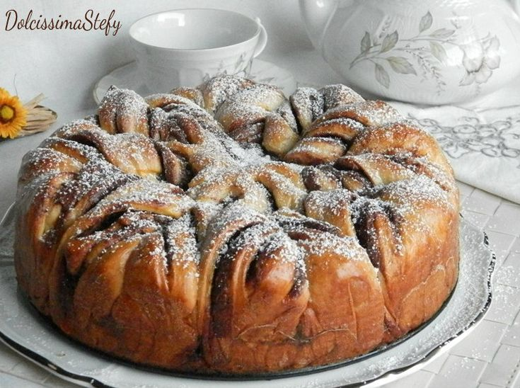 Fiore+di+Pan+Brioche+alla+Nutella,ricetta+e+tutorial