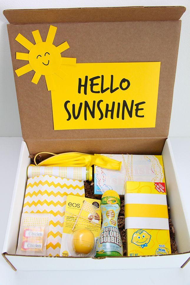 Hello Sunshine A Happy Gift Idea Cheer up gifts Cheer