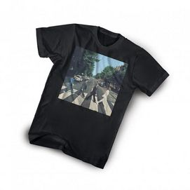 Wear one of the most iconic moments of rock and roll proudly with the Beatles 'Abbey Road' tee. Made from cool comfortable cotton to satisfy even the biggest fan. Cotton Crew-neck style Short sleeves Print featuring the Beatles Abbey Road album cover art Machine wash