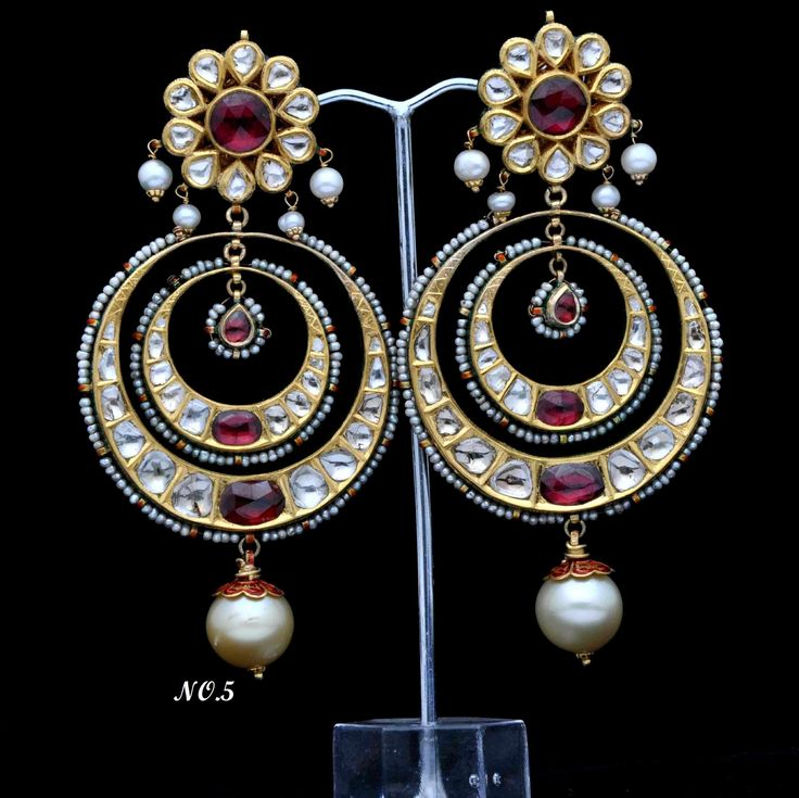 Vintage Solid 22 Carat Gold Necklace Earring Pair Set: 105 Best Images About Rajputi Ornament On Pinterest