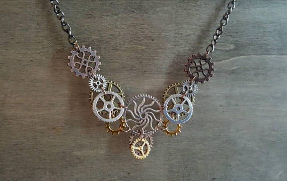 Hey, I found this really awesome Etsy listing at https://www.etsy.com/listing/589002961/steampunk-necklace-vintage-antique-style