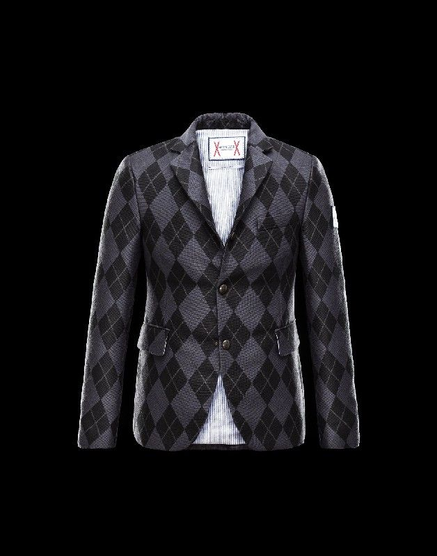Moncler montcler, Moncler GAMME BLEU Herren Jacke Für Ihn Grau Acryl/Wolle/Polyester/Baumwolle 41459921IU