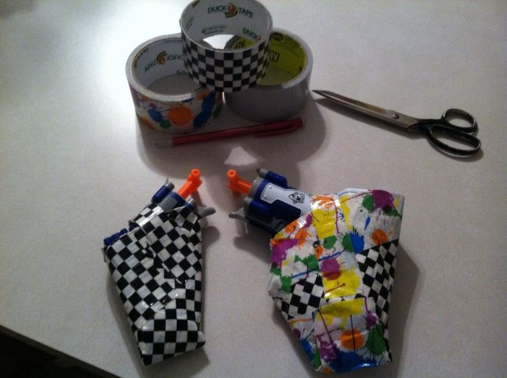 duct tape Nerf gun holsters i made, the girl i made them for didn'