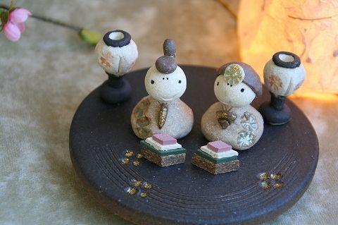 Shigaraki ware Ohinasama dolls