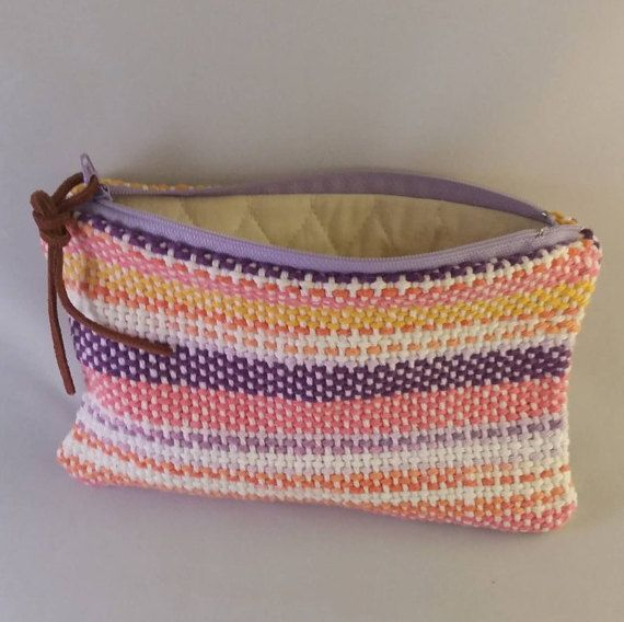 Hey, I found this really awesome Etsy listing at https://www.etsy.com/ca/listing/273429480/makeup-bag-hand-woven-makeup-bagpink