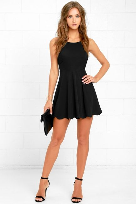 Lulus | Play On Curves Black Backless Dress | Size X-Small | 100% Polyester