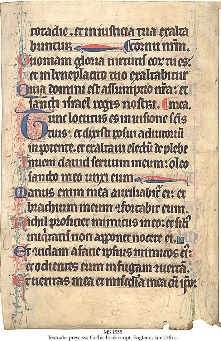 in the highest grade of gothic book script  latin  littera