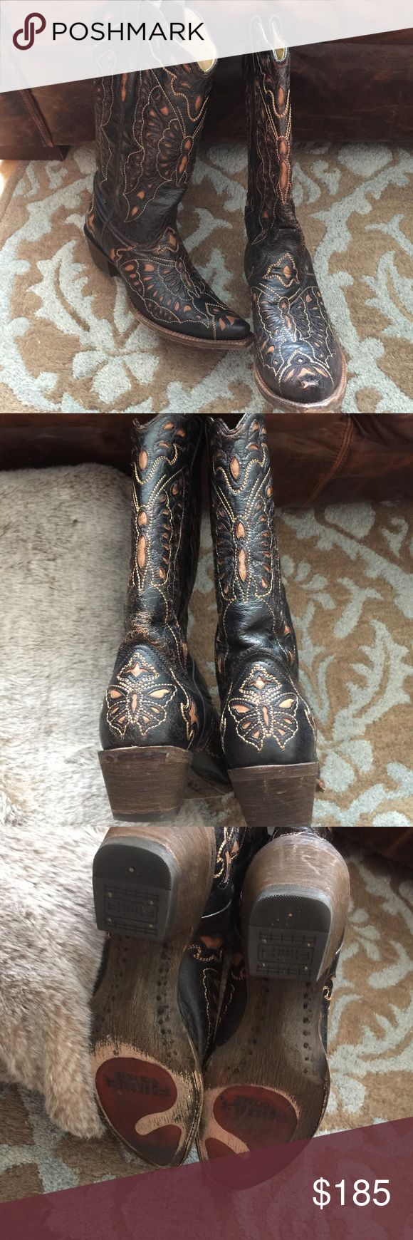 ✨Final Price✨Corral Vintage Boots Ladies Size 10 M Authentic Corral Vintage Boots. Ladies Size 10 M. Beautiful Condition. Gorgeous Detail. Worn 2x. TTS. Very Comfortable. Listing for a Friend. She Normally Wears B Width. No Box. Will pack nicely for shipping. Corral Vintage  Shoes