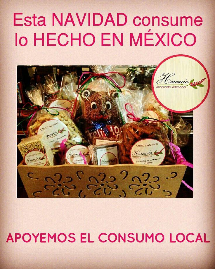 Pregunta por nuestras #canastas y #arcones navideños! :) #amaranto #amaranth #amarantoenmexico #organic #delicious #mexico Envío a domicilio!
