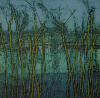 Down To Earth Gallery: Sarah Ross-Thompson Fine Art Printmaker collagraph prints of landscapes www.cullowheemountainarts.org