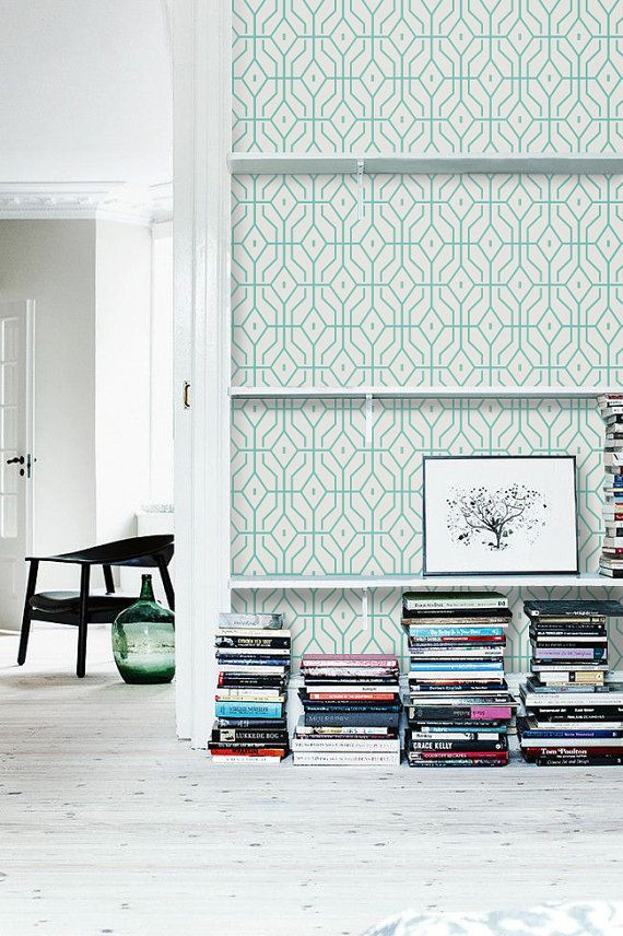 Self Adhesive Geometric Vinyl Temporary Removable Wallpaper Wall Decal Trellis Pattern Print 116 B