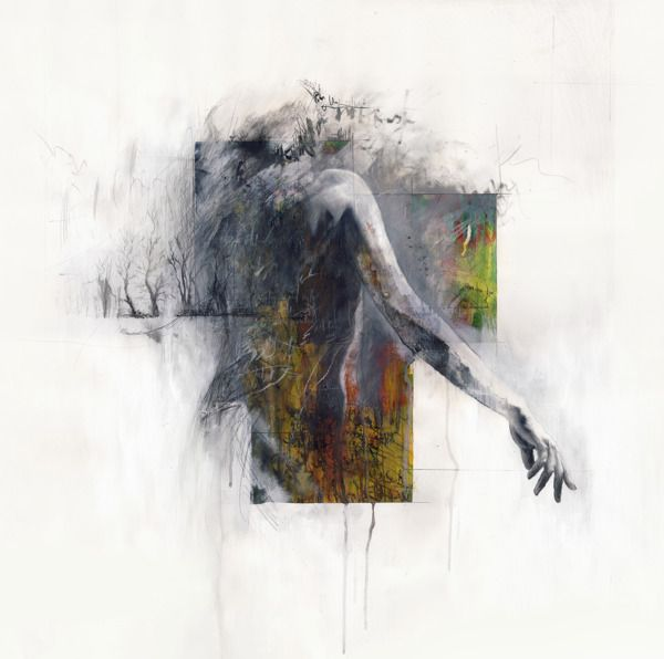 Powerful Mixed Media Portraits of Faceless Figures by artist Justin Harris - My Modern Metropolis