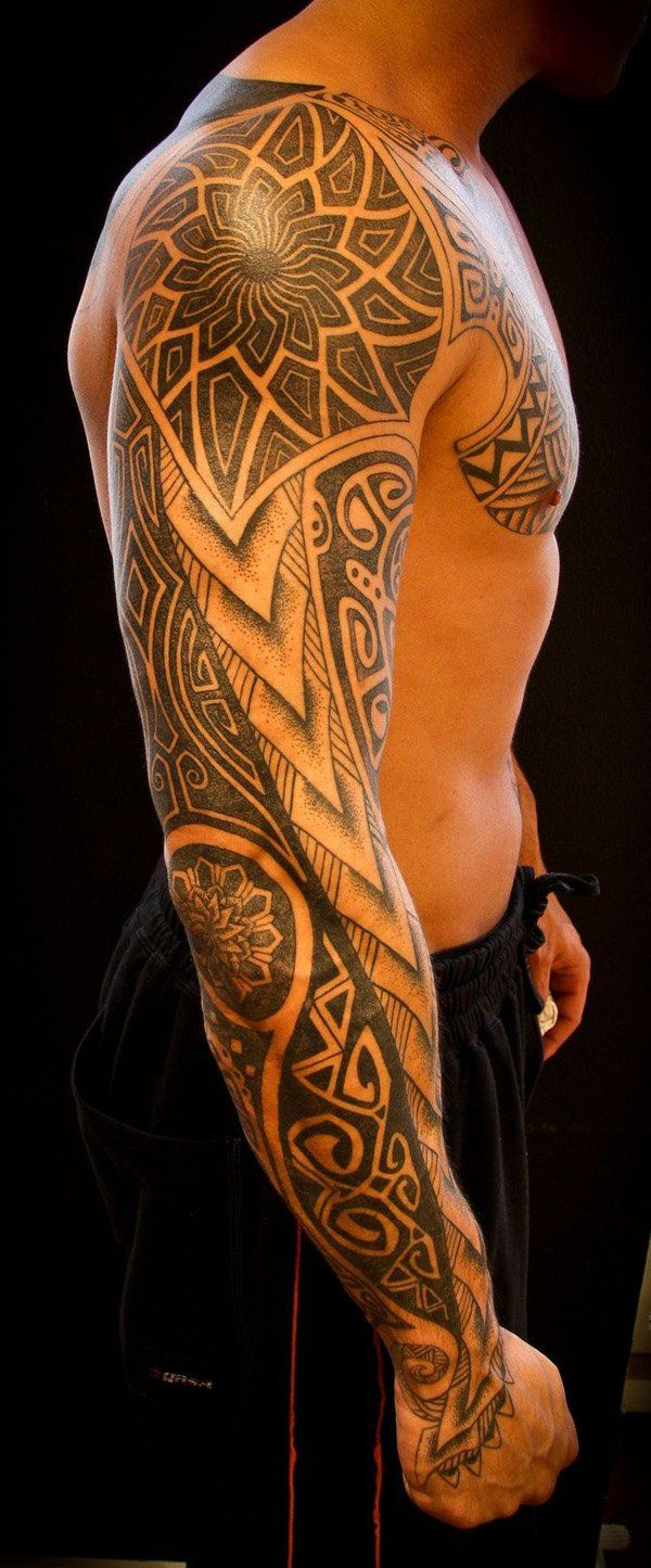 tribal sleeve - 70+ Awesome Tribal Tattoo Designs | Art and Design
