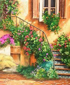 'The Stairway' ~ Barbara Rosbe Felisky