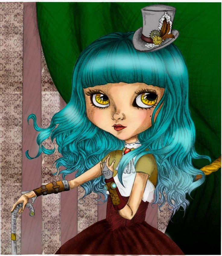 Chica Steampunk Digital