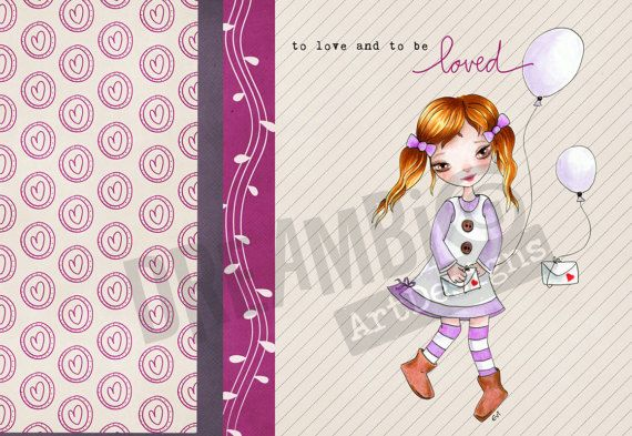 To love and to be loved Girl Nursery Wall by DreamBigArtDesign