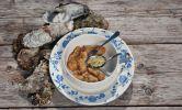 Gefrituurde oesters met peterselie/citroen hazelnootboter