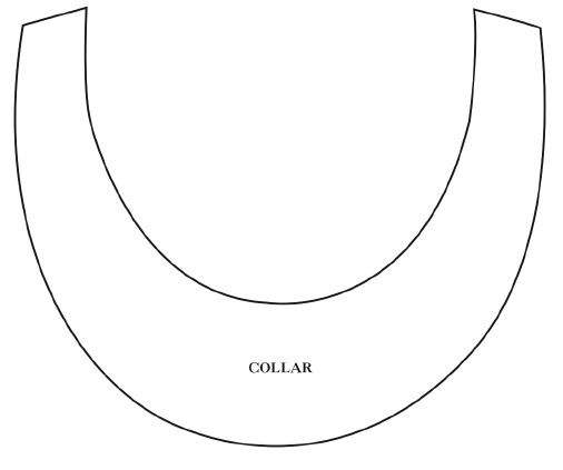 Fabric Necklace Base Template