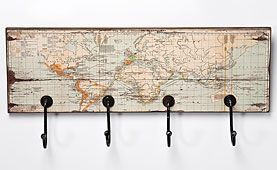 Perchero Rectangular Mapa del Mundo