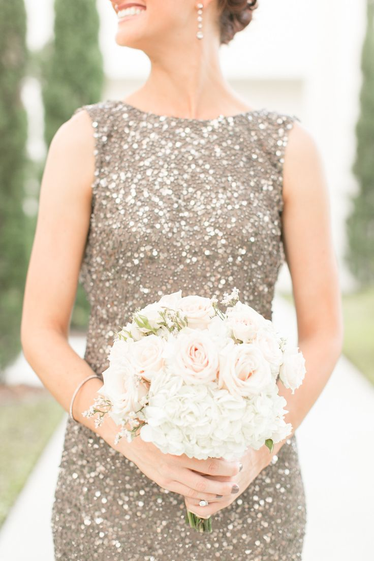 Sequin bridesmaid dress   Photography: Amalie Orrange Photography - amalieorrangephotography.com  Read More: http://www.stylemepretty.com/2014/07/14/glitter-wedding-at-the-citrus-club/