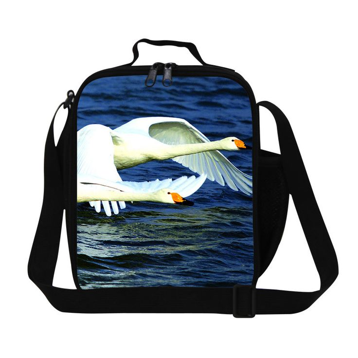 Personalized Goose Pattern ladies lunch bag cute childrens insulated lunch bag for school,lovely lunch box bag with straps
