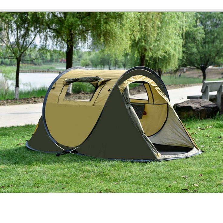 Ezyoutdoor 3 Person Tent Large Pop Up Camping Hiking Tent Automatic Instant Setup Easy Fold back Shelter with Gift Mat Pad ^^ Additional details at the pin image, click it  : Hiking tents