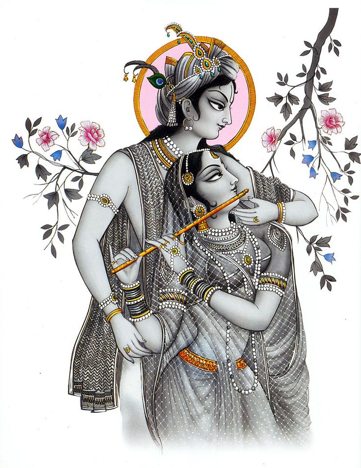 Radha Krishna - The Eternal Lovers (Reprint on Card Paper - Unframed)