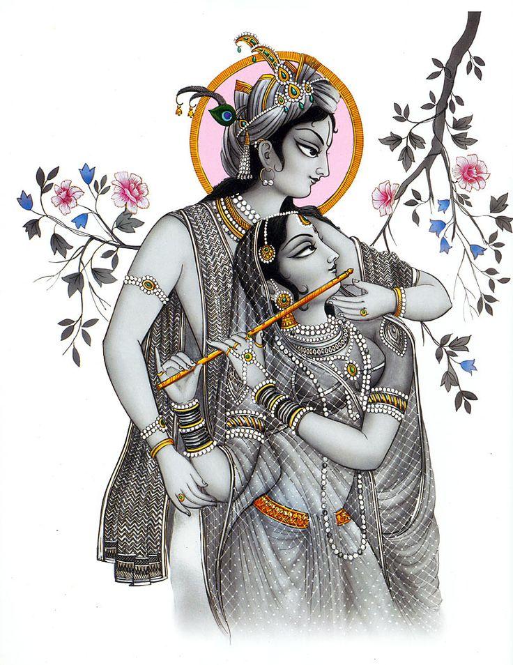 Radha Krishna - The Eternal Lovers (Reprint on Card Paper - Unframed)