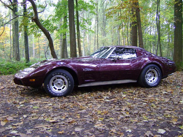 Purple 1977 Corvette C3 Stingray