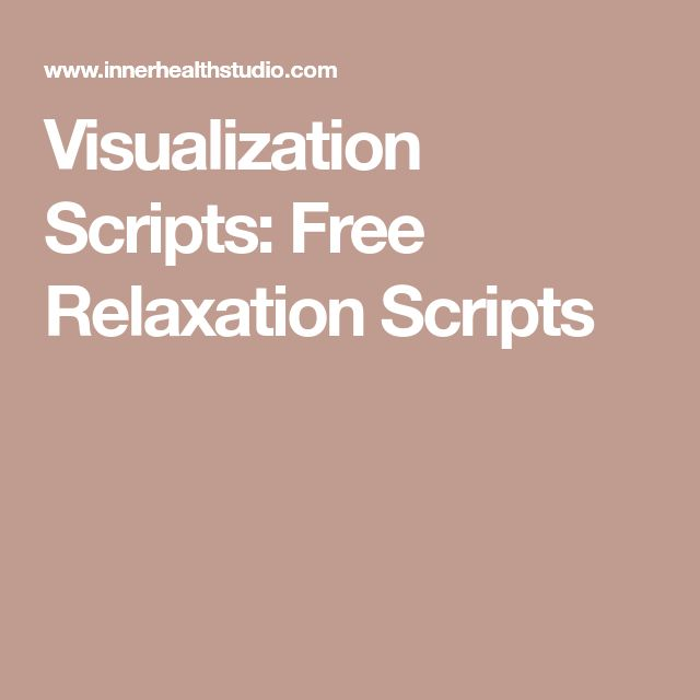 Visualization Scripts: Free Relaxation Scripts