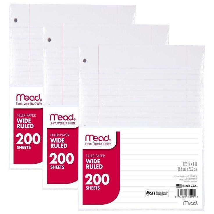 Mead 15200 Wide-ruled Filler