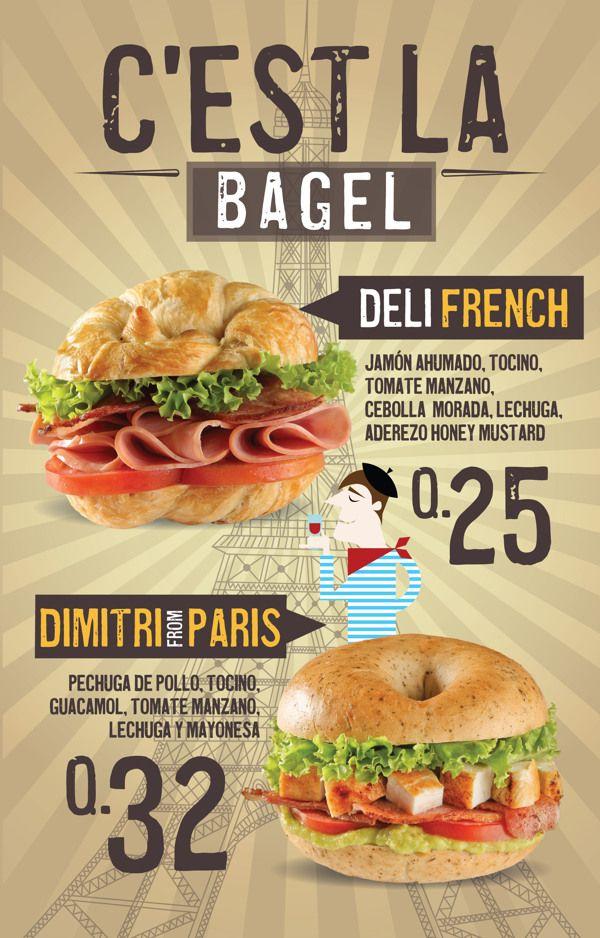 Cliente Bagel Bross y bagel Factory by silvia Urruela, via Behance